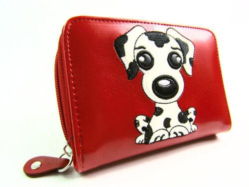 Ladies Womens Girls New High Quality Fun Dog Motif Purse Wallet Coin Pouch