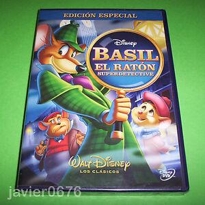 BASIL-EL-RATON-SUPERDETECTIVE-CLASICO-DISNEY-NUMERO-26-DVD-NUEVO-Y-PRECINTADO