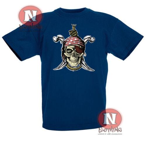 Conception de crâne Pirate Enfants T-shirt 3-13 ans imprimer transfert pas