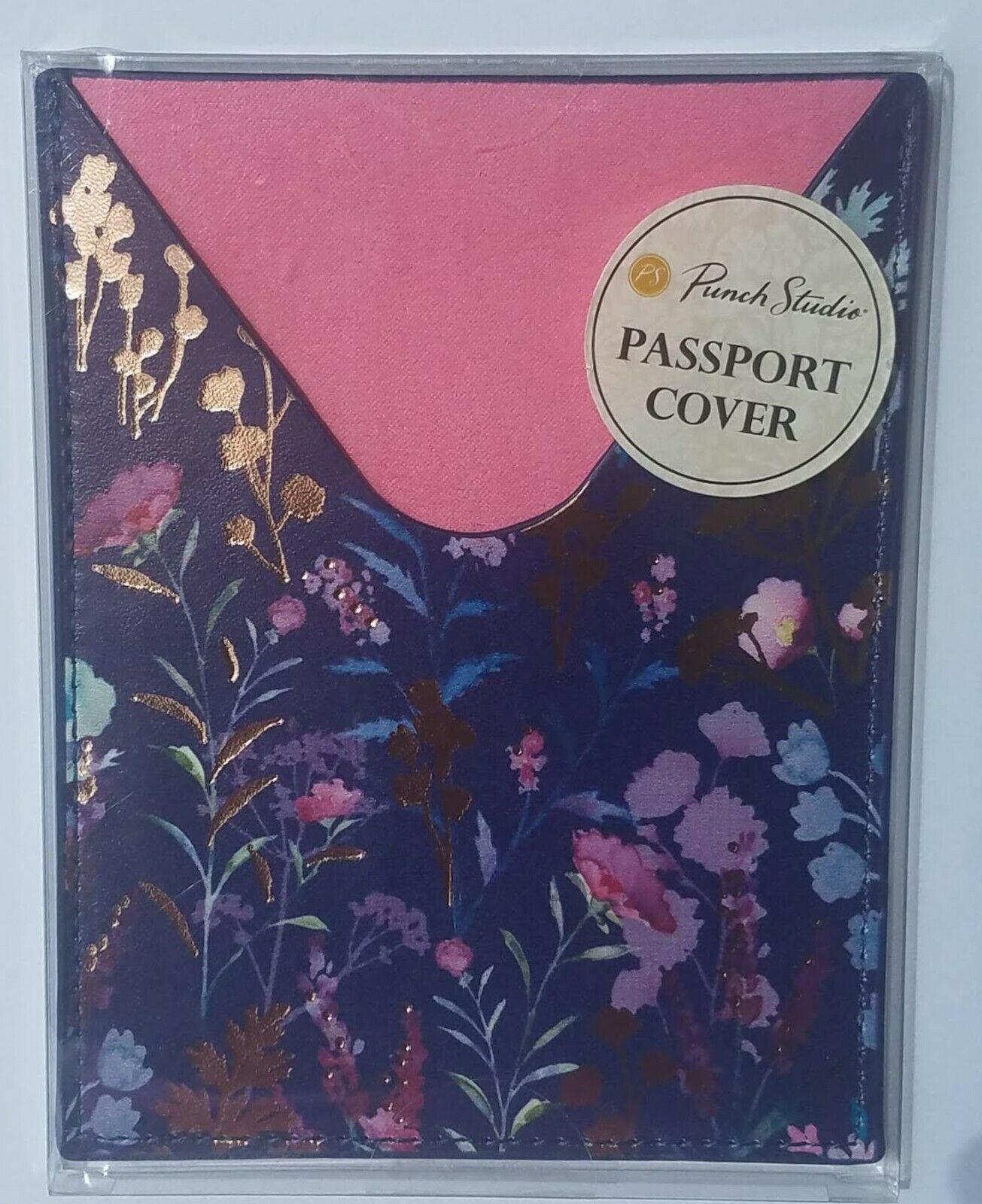 Punch Studio Travel Passport Cover Purple Wildflowers New With Tags - s l1600