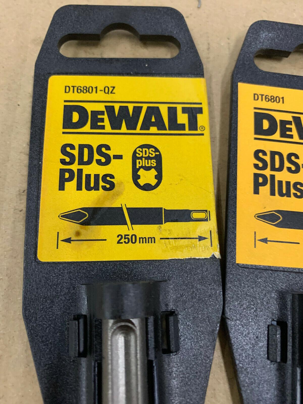 Dewalt SDS-Plus Spitzmeisel Flachmeisel Spatmeisel DT6801 DT6802 DT6803 DT60330