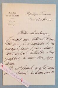 L-A-S-1910-Vice-Amiral-Rene-Julien-MARQUIS-s-1-lettre-autographe-de-Pierre-LOTI