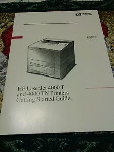 hp laserjet 4000 t and 4000 tn printers getting started guide rh ebay com Where to Find Model Number HP LaserJet 4000 HP LaserJet 4500 Printer