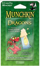 Munchkin Dragons Expansion Card Game Adds 15 Cards Steve Jackson Booster SJG4235