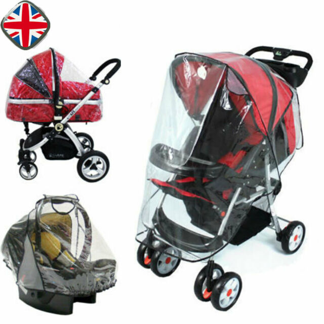 Universal Clear Baby Pram Stroller Buggy Pushchair Raincover Rain Cover Raincoat