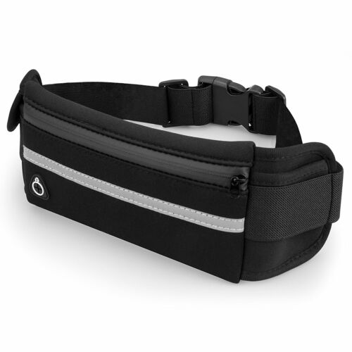 Running Waist Pack With Water Bottle Holder Pocket Adjustable Strap Sports Pouch