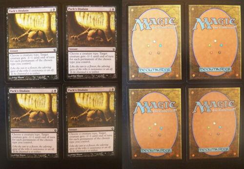 4x Pack's Disdain Magic: The Gathering, MTG) Morningtide