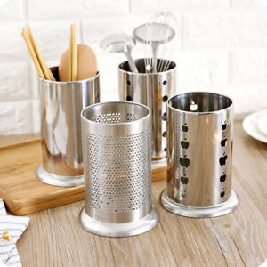 Image Is Loading Stainless Steel Cutlery Caddy Holder Pot Kitchen Washing