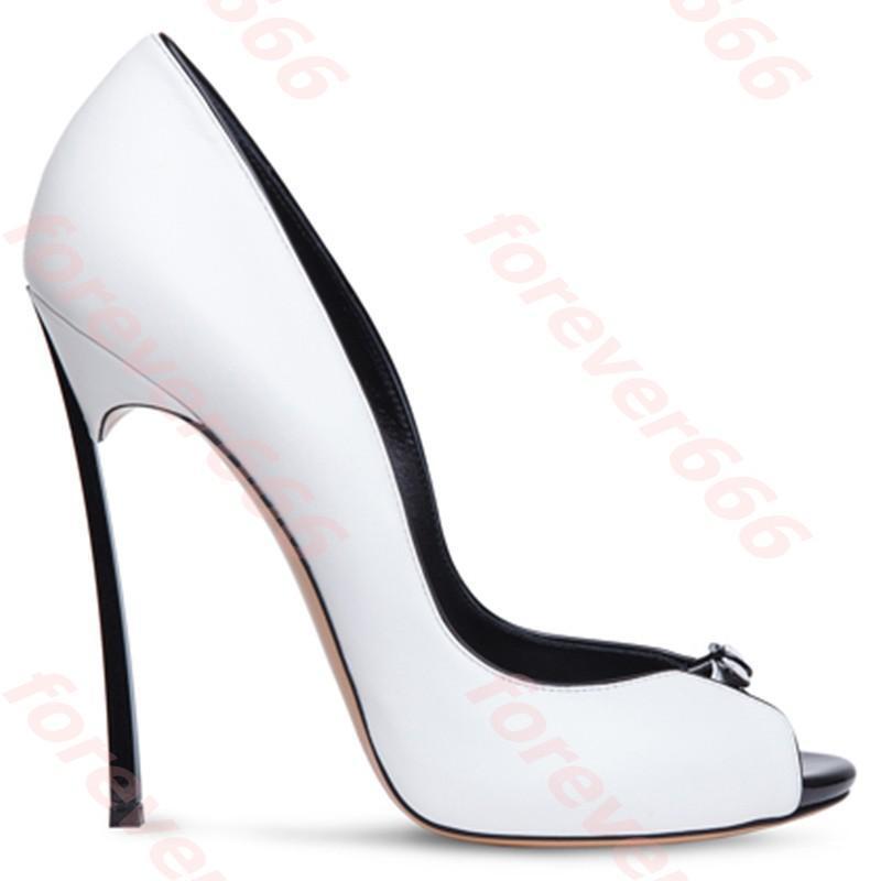 Peep Schuhe Toe GR.34-43 Highheels Damen Schuhe Peep Pumps Schwarz Weiß a34dfb