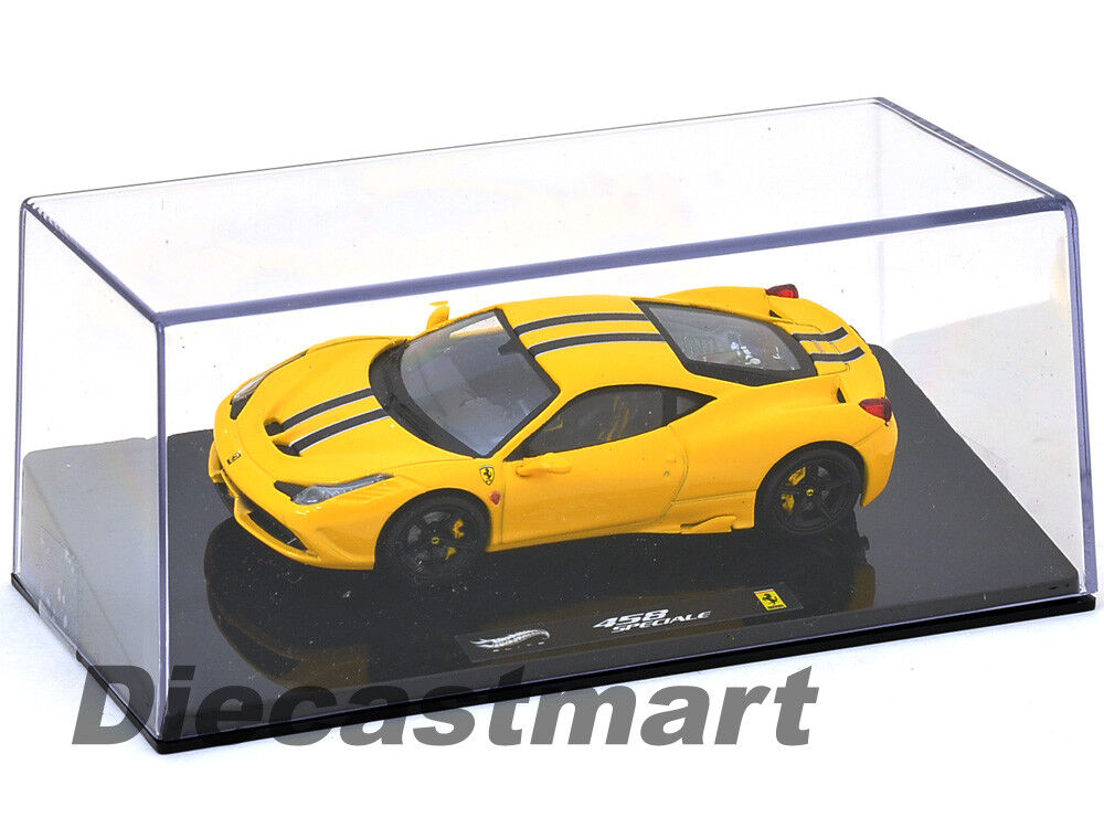 HOTWHEELS ELITE BLY46 FERRARI 458 ITALIA SPECIALE 1 43 DIECAST MODEL CAR YELLOW
