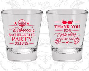 Bachelorette Party Shot Glasses Glass Favors (60177) Beach, Tropical