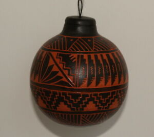 Hand-made-Black-and-Terracotta-Ornament-by-Harriet-Yabeny-Navajo-Dine