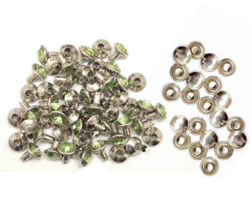 8mm Strass Kristall Nieten Nieten Für Leder Beutel Schuhe Biker Mode Dekoration