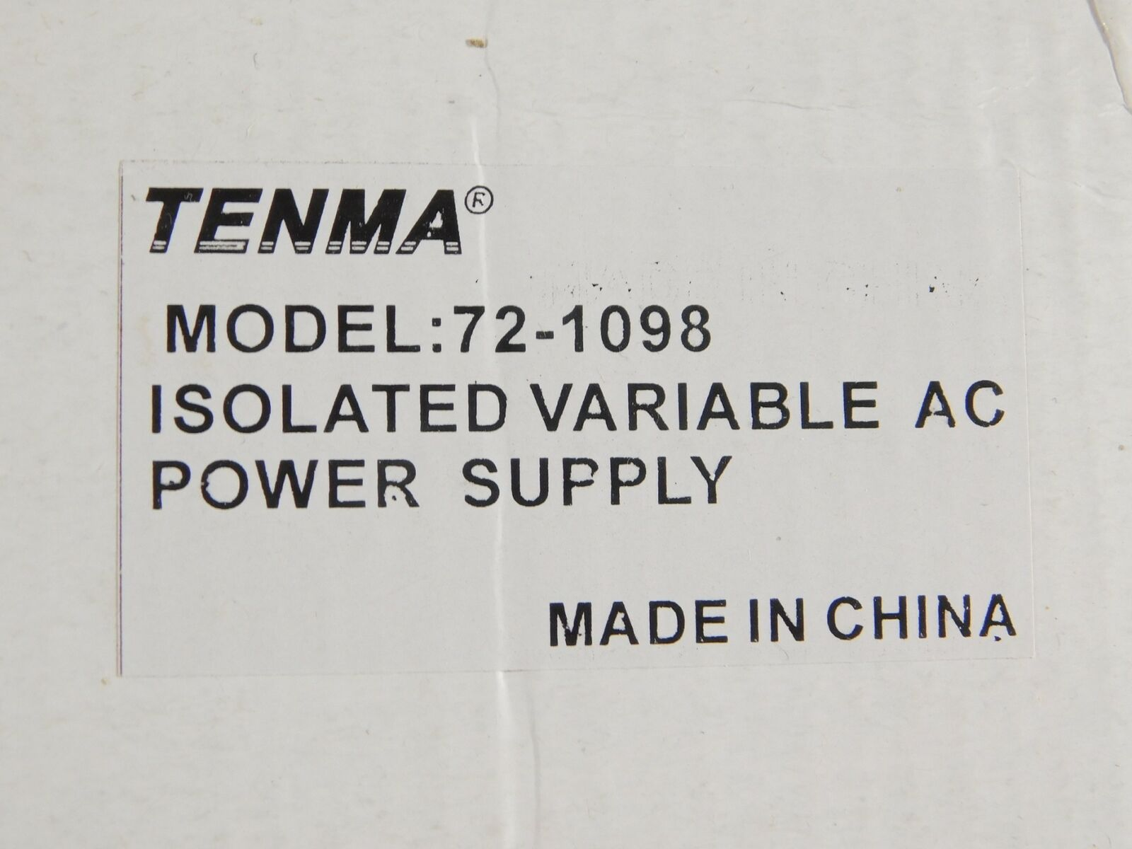 Tenma 72-1098 Isolated Variable AC Power Supply (new in box). Buy it now for 300.00