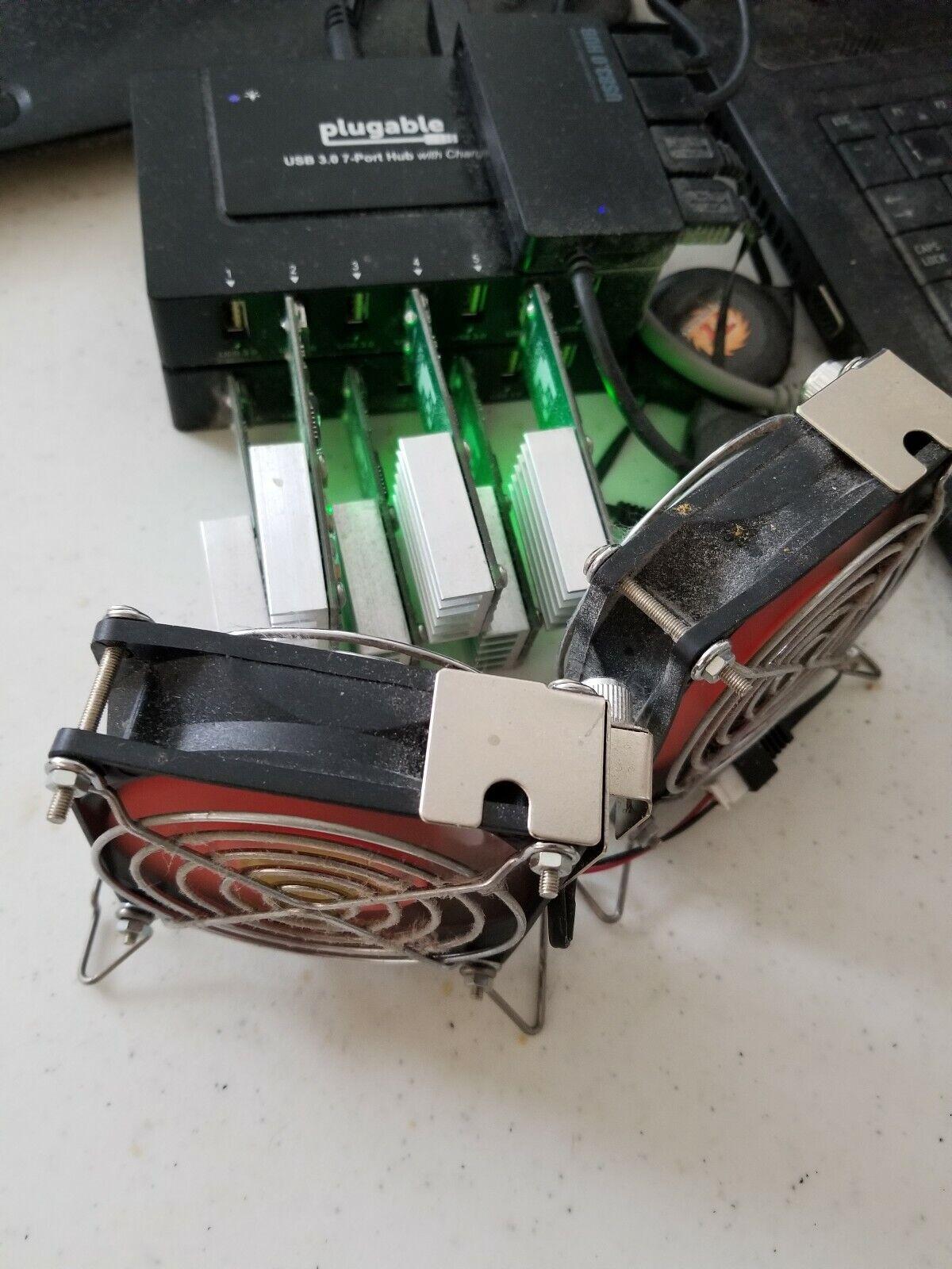 GekkoScience NEWPAC BM1387 SHA256 Bitcoin | 6 USB Mining Setup - Barely Used 1