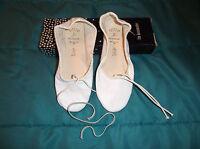 Capezio 200 Teknik Ballet White Leather,full Sole,dance Sz.4b