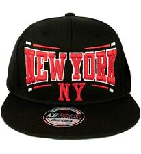 Kb Ethos Para Hombre Boys New York Ny Snapback gorras de béisbol Hip Hop Truckers Negro Rojo