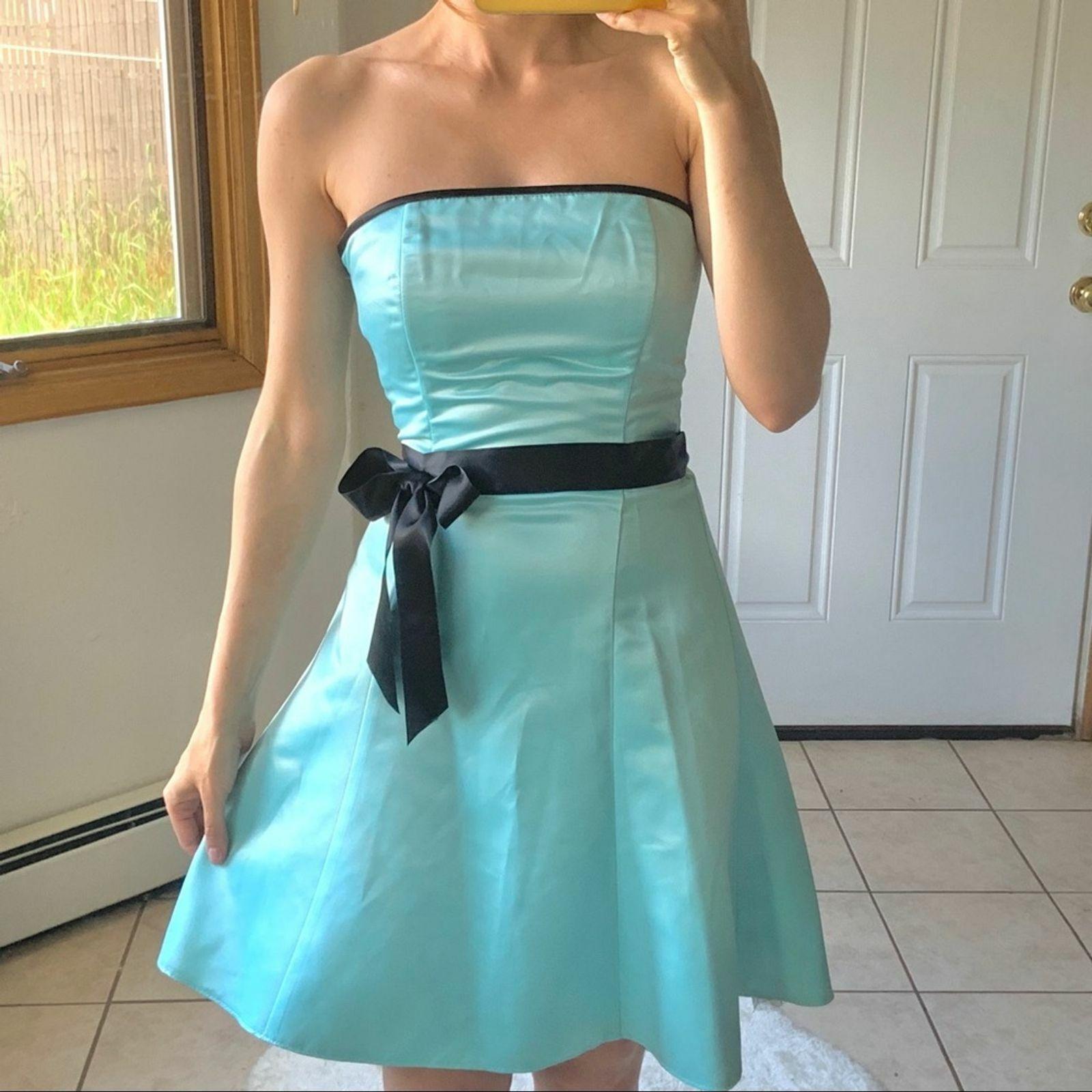 Vtg Jessica McClintock Gunne Sax Blue Formal Dres… - image 4