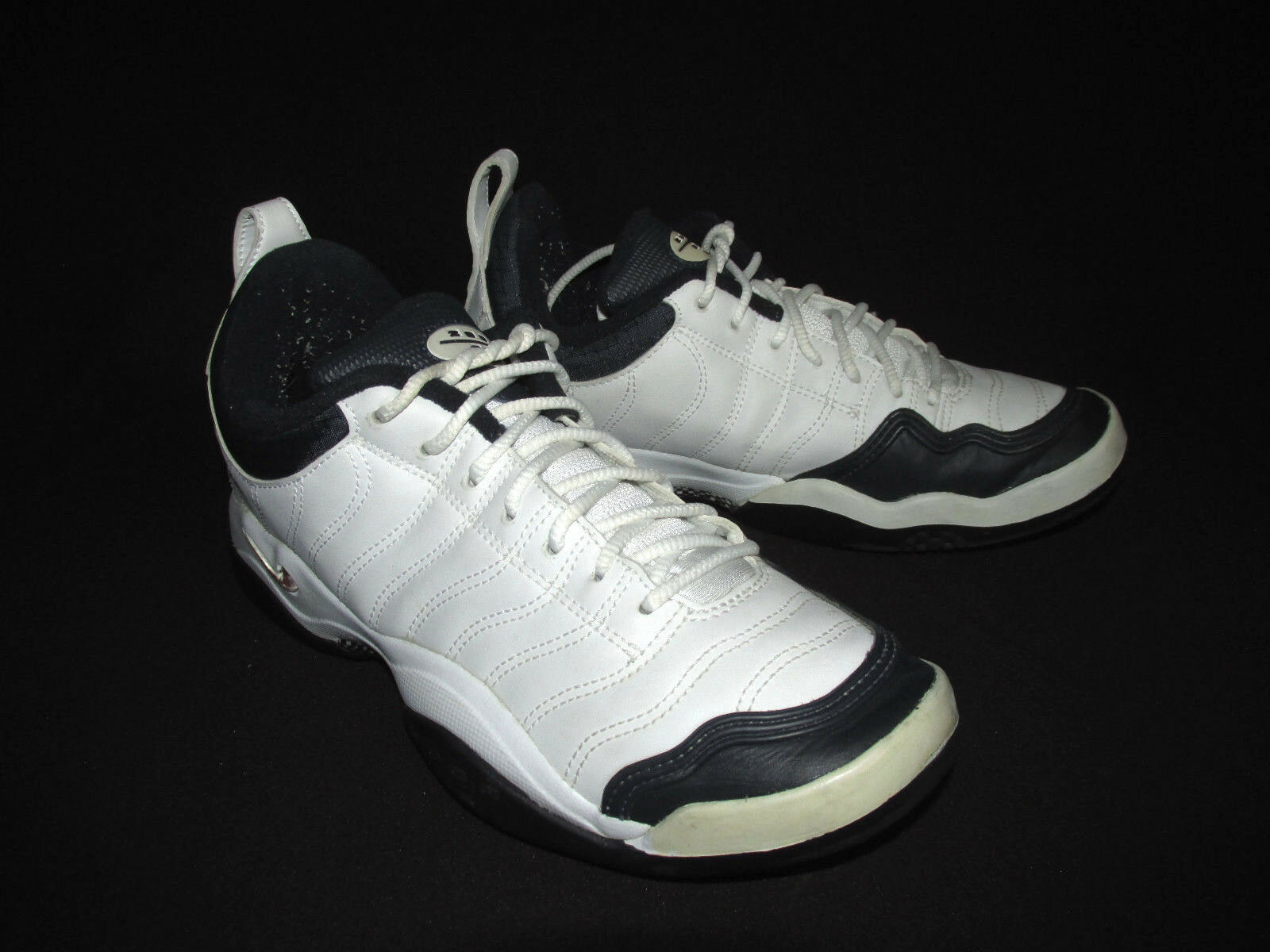 Nike air zoom oszillieren mens tennisschuhe 140370-144 weiße schwarze us - 7.5m