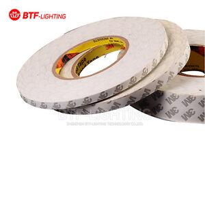 pretty nice ea7e2 4f776 Details about BTF 3M Double Sided-SUPER STICKY HEAVY DUTY ADHESIVE TAPE for  led strip light