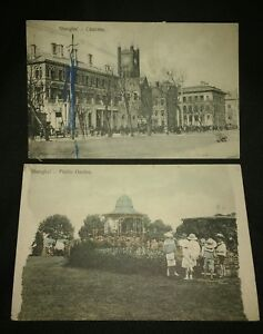 Damaged-China-Postcards-From-Astor-House-Hotel-Shanghai-Public-Gardens-Customs