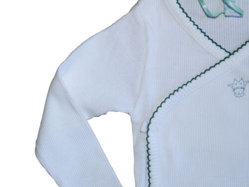 Marie Chantal Picot Trim Ribbed  One Piece Wrap Bodysuit Various Sizes SP £28
