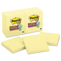Post-it Canary Yellow Note Pads 3 X 3 90-sheet 12/pack 65412sscy on sale
