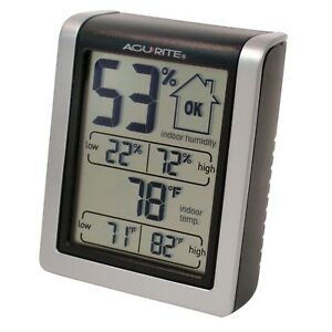 Indoor-Humidity-Monitor-AcuRite-00613A1-Free-Shipping-New