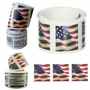 1 Coil of 2017/2018 US FLAG FOREVER Stamps - Free Shipping (US Only)