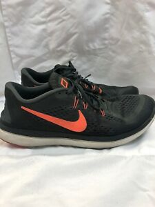 inundar dañar Visible  Nike Flex Fitsole Size 14 Grey Orange Running Sneakers Mens Shoes Used |  eBay