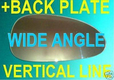CHEVROLET DAEWOO LACETTI 2002 DOOR MIRROR GLASS WIDE ANGLE+PLATE RIGHT OR LEFT