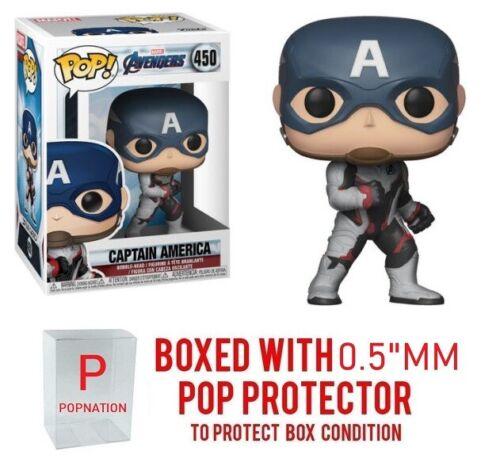 Funko Pop Marvel Avengers Endgame Captain America #450 w//0.5mm Case