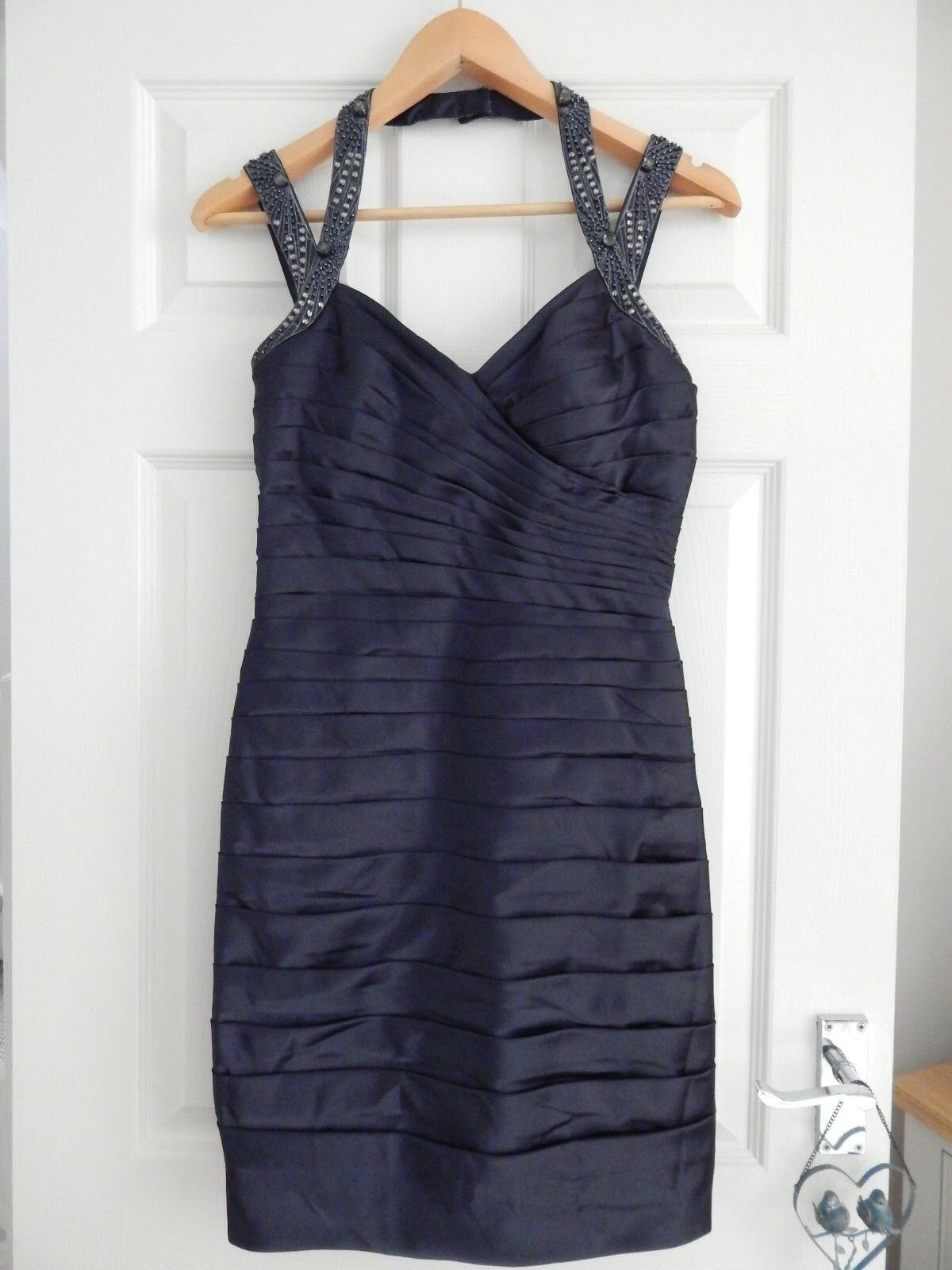 NEW ADRIANNA PAPELL NAVY RED CARPET 4 10