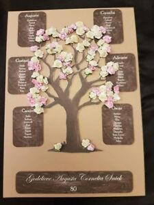 rustic shabby chic country blossom tree wedding table seating plan