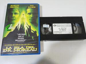 THE-ISLAND-OF-DR-MOREAU-MARLON-BRANDO-VAL-KILMER-VHS-EDITION-ESPANOLA