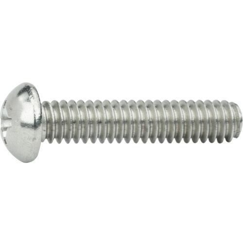"""6-32 x 1//4/"""" Phillips Round Head Machine Screws Stainless Steel 18-8 Qty 100"""