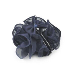 Fashion Womens Chiffon Rose Flower Bow Jaw Clip Barrette Hair Claw Gift Hot ME