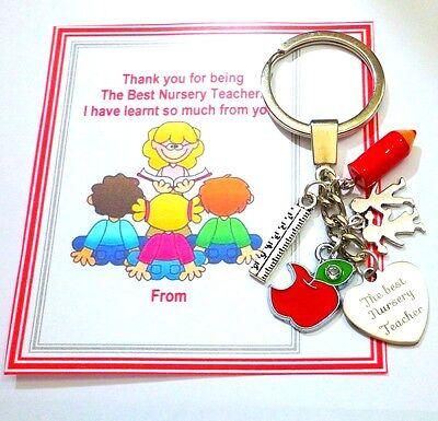THANK YOU TEACHER GIFT Keyring New TEACHING ASSISTANT,NURSERY TEACHER