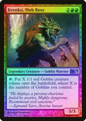 Mob Boss FOIL Magic 2013 Krenko M13 HEAVILY PLD Red Rare MAGIC CARD ABUGames