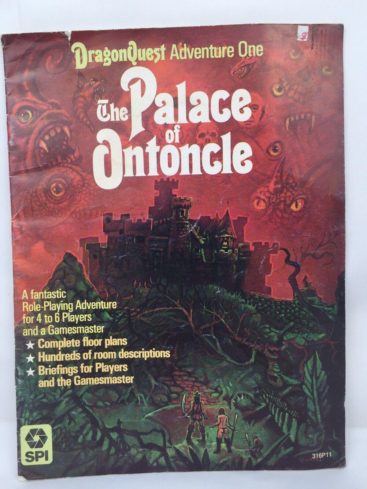 Venta en línea de descuento de fábrica SPI DragonQuest Adventure  1 - el Palacio de de de ontoncle 1980  Venta al por mayor barato y de alta calidad.