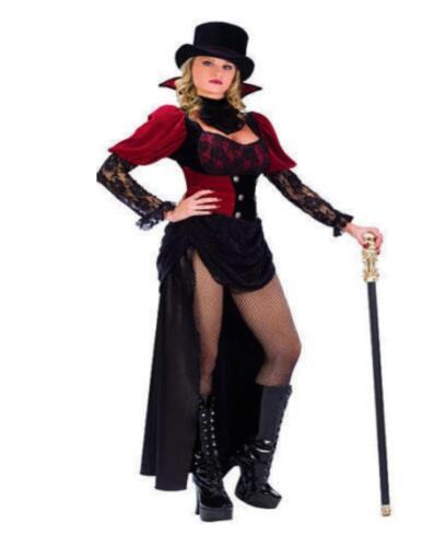 Victorian Burlesque Vampire Velvet /& Lace Adult Womens Costume S//M  M//L   N8