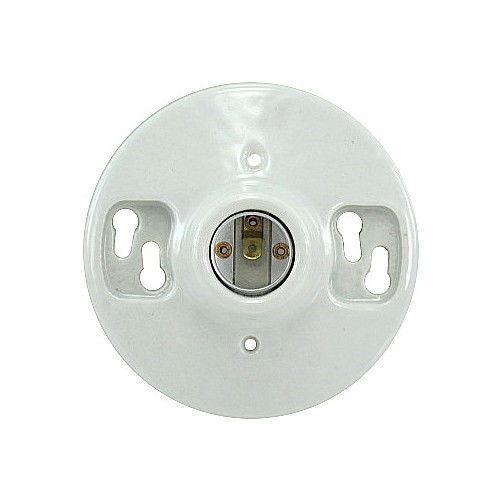 Ceiling Light Outlet Box: Leviton 9875 Porcelain Outlet Box Mount, Incandescent
