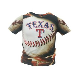 the best attitude 33e0a 7a4b9 Details about Texas Rangers Official MLB Genuine Infant & Toddler Size  Athletic T-Shirt New