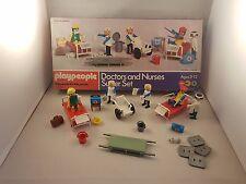 Vintage Marx Toys Playmobil playpeople 1740 médicos y enfermeras Super Set en Caja