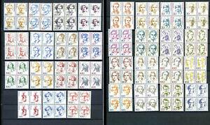 BRD-Frauen-VB-komplett-31-Werte-je-Viererblock-postfrisch-m628
