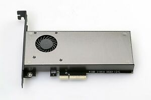 NGFF M.2 NVME PCIE SSD To PCI Express 3.0x 4X Adapter Card With Cooling Fan
