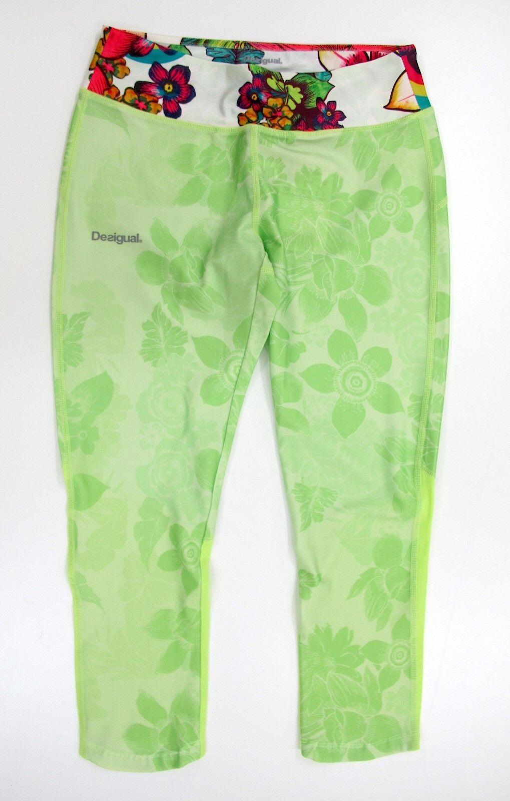 DESIGUAL pants 3 4 women's FR CAPRI 60K2SB3 4140 Colour Green FLUO summer 2016