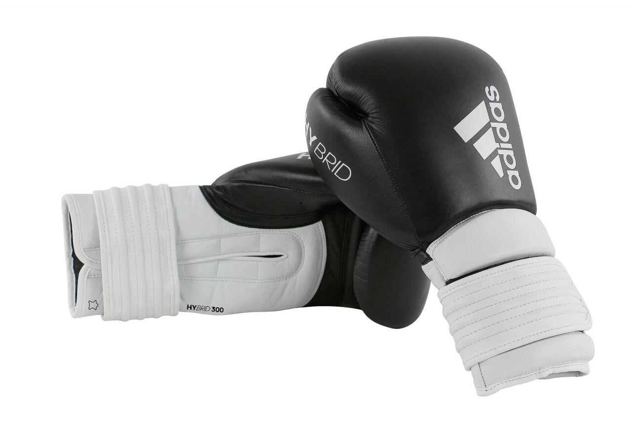 ADIDASGuantoni da boxe ibrida 300, NeroBianco. 1416oz. TOP ADIDAS Tecnologia