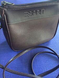 67931c10c Vintage Esprit Purse ~ 80s 90s Boho Retro Faux Brown Leather Small ...