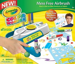 Crayola CW Mess Free Airbrush Effects Spray Art for Kids Imagination 75-2219 NEW